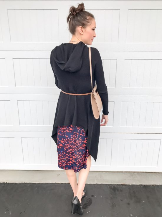 10 ways to wear a LulaRoe Carly dress- business casual 4