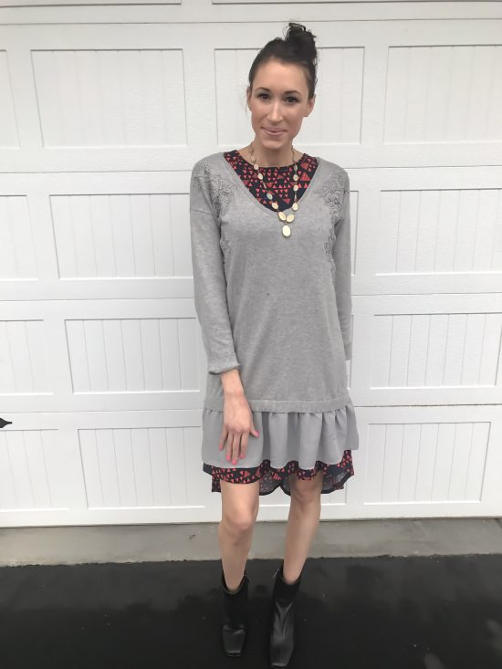 10 ways to wear a LulaRoe Carly dress- casual chic 2