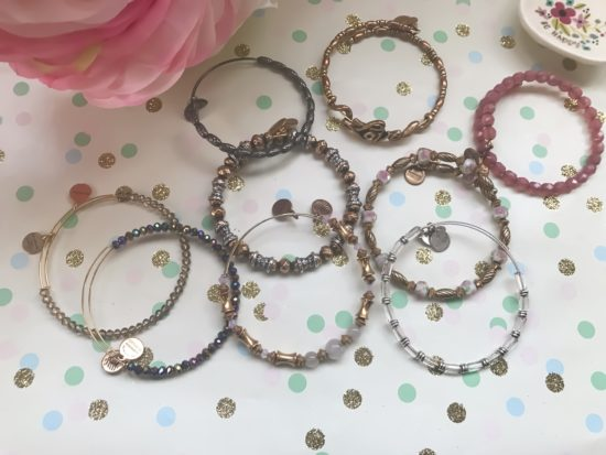 Alex and Ani Bangles- beaded