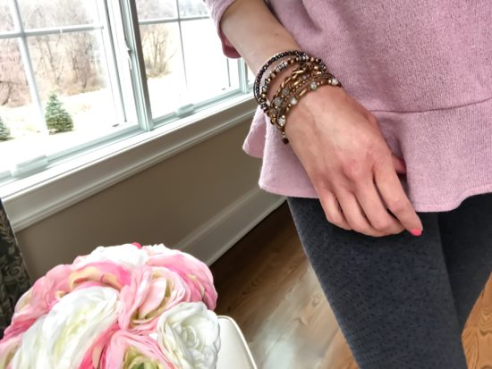 Alex and Ani Bangles- layered