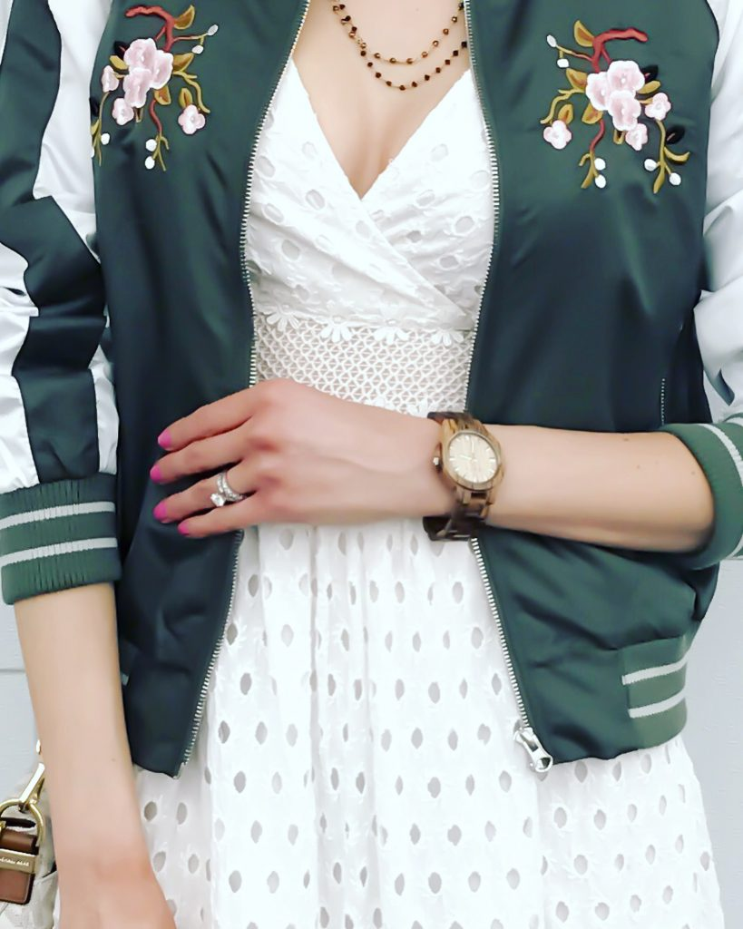 Spring is Blooming with JORD- bomber jacket