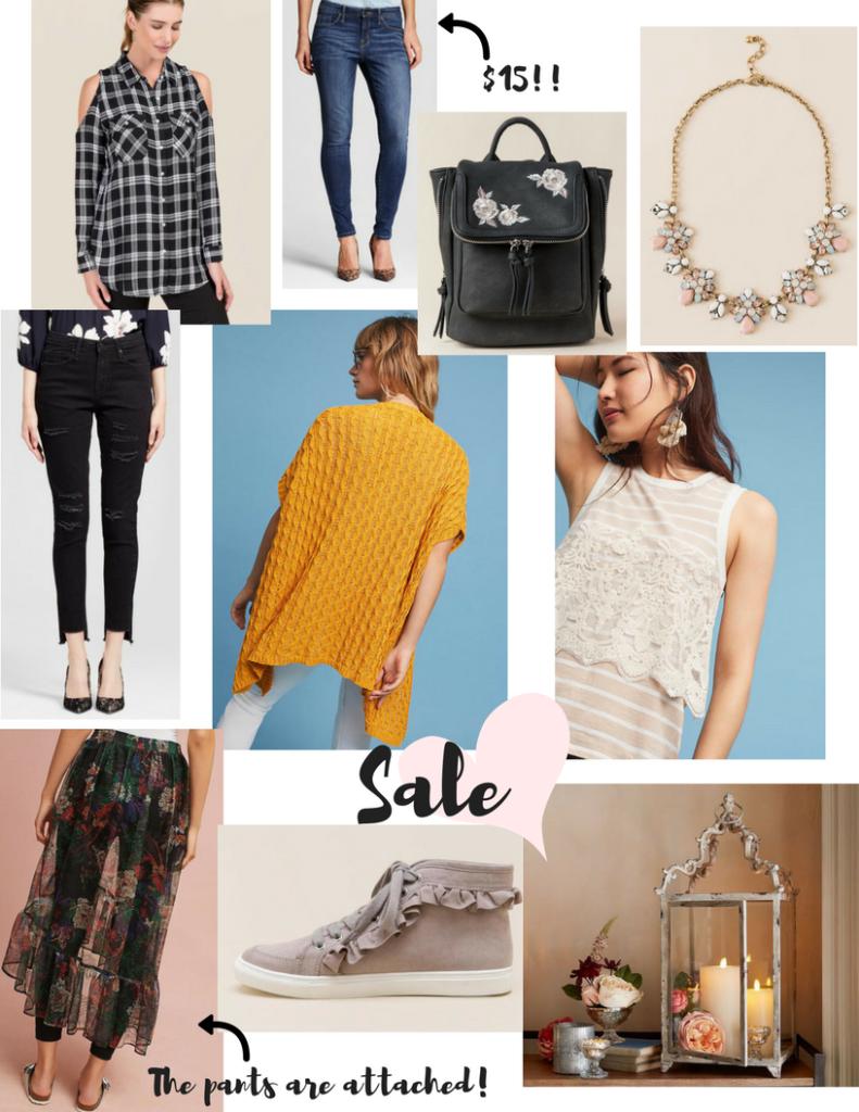 Anthropologie, Francesca's, Lucky Brand, Pottery Barn, Target, jeans, sale, denim