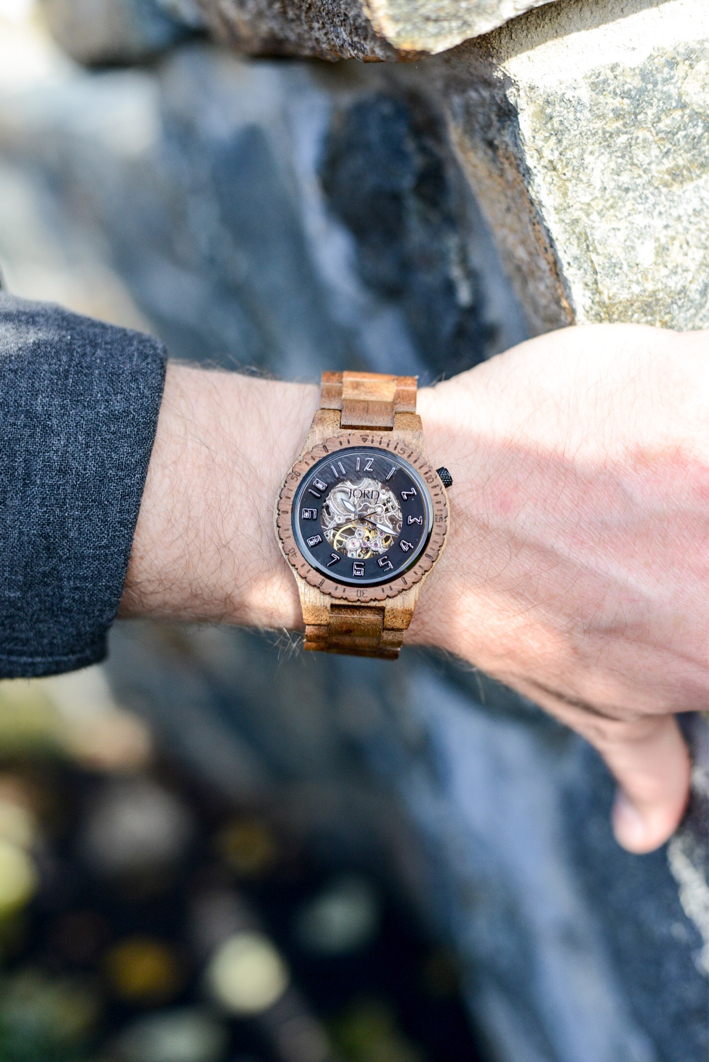 The Best Gift for Your Guy this Holiday Season closeup of JORD wood watch