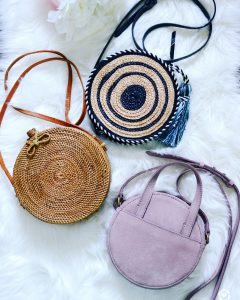 round bags, rattan bags, straw bags