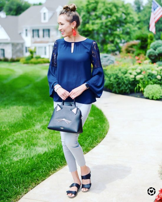 Instagram Roundup- Summer 2018- summer-to-fall outfit- bell sleeves