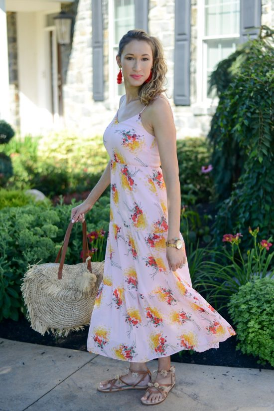 Thrity Thursday (Vol. 3) pink floral maxi dress