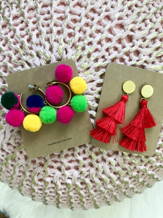 Thrisfty Thursday (Vol. 3) pom pom and tassel earrings