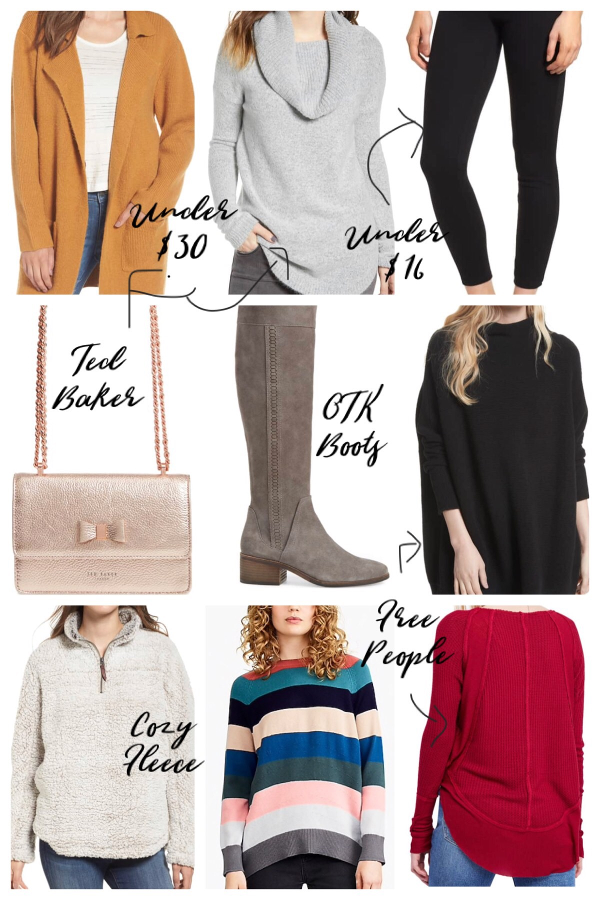 Black Friday Sale Faves from Nordstrom and J. Crew; winter style, fall style, Free People, tunic sweater, casual outfits