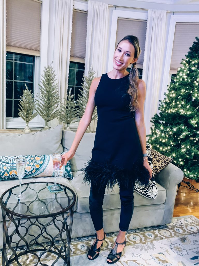 Fashion Trends to Try in 2019- feather embellishments/ New Year's Eve dress