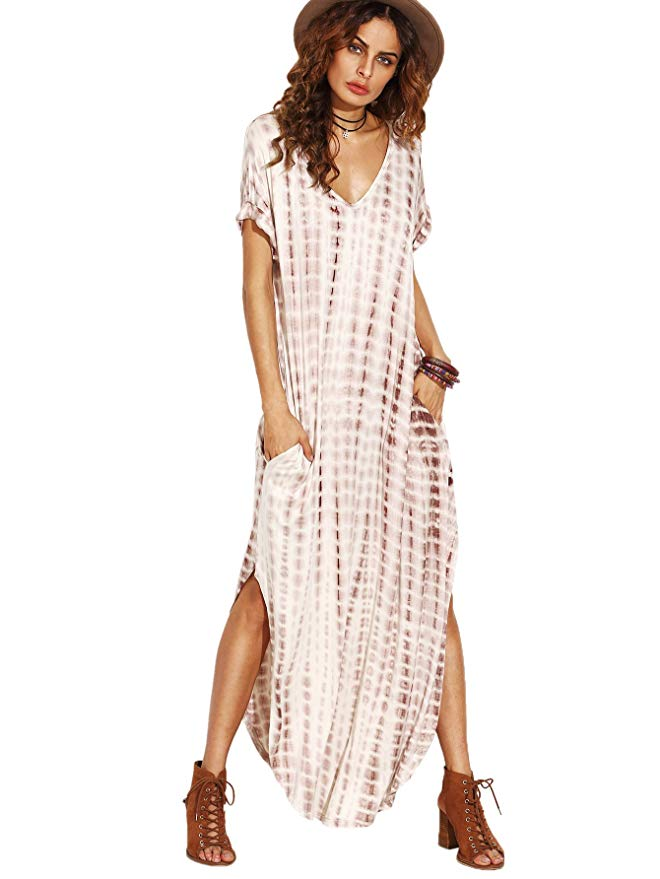 299f015715 A soft and stretchy maxi dress? Yes, please! This one is casual chic and  looks soooo comfortable. I have a thing for v-necks.