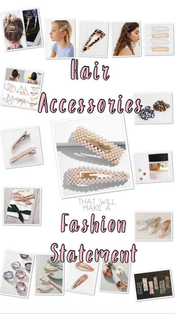 Hair Accessories that will Make a Fashion Statement- etsy, hair clips, scrunchies